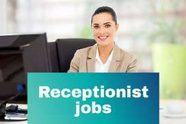 Immediate hiring front office receptionist
