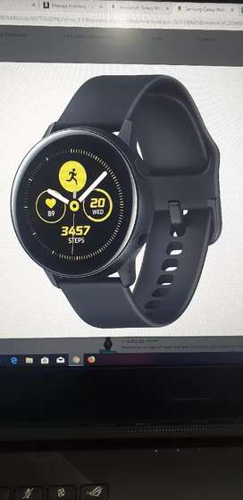 Samsung watch active smart watch one day used only with bill