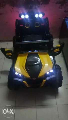 Yellow And Black Ride On Toy Car fix price