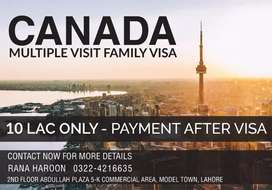 Canada multiple times entry visa 0 advance.