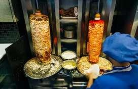 Shawarma cooking person need