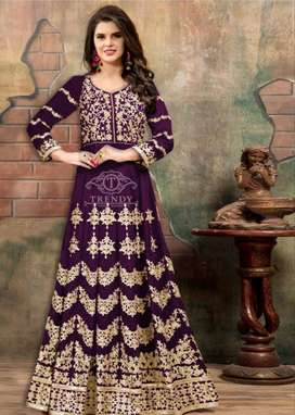New Arrival Embroidered Long Frock 2pc