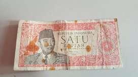 Uang kuno 1 rupiah sukarno 1964