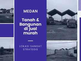 Tanah dan Bangunan di jual murah lokasi strategis di kota Medan
