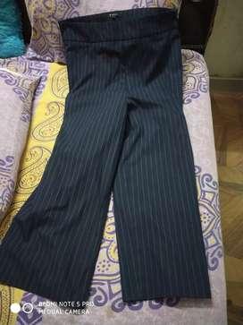 Van Heusen formal navy blue striped women trouser