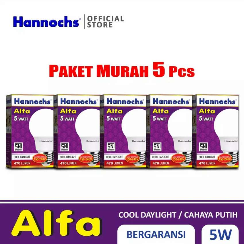 PROMO Lampu led HANNOCHS Alfa 5 watt Original Garansi 0