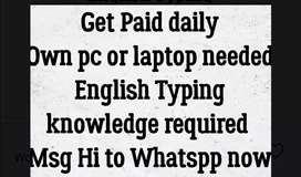 Simple typing work available t