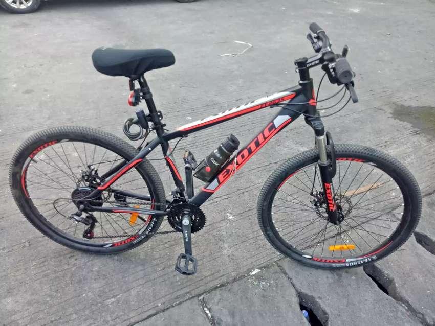 Jual sepeda Ukuran 26 merek Exotic kondisi seperti si foto no minus 0