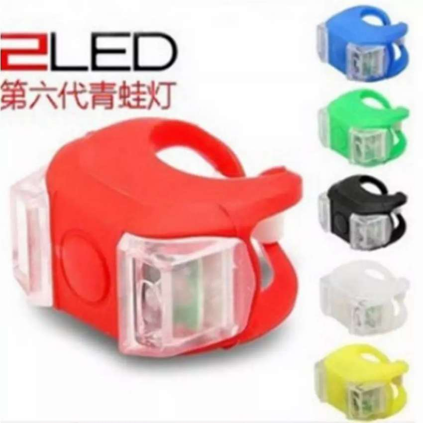 Lampu LED Sepeda Silikon 2 PCS - HL-009 0