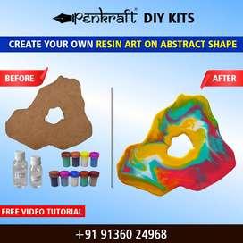 Penkraft | Resin Art on Abstract DIY Kit | Order Now