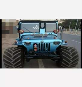 Willy modified blue jeep