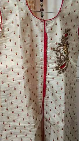 Kurti with skirt and churidar