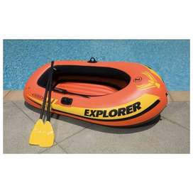 Intex Explorer 200 Inflatable 2 Person River Boat Raft Set with 2 Oars