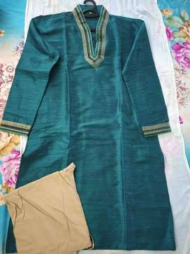 Green Stylish Kurta Pyjama Size 42
