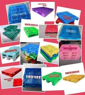 Pallet plastik ready stok baru/bekas...