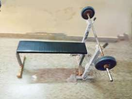 Portable gym bench press table