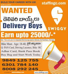 Urgent Opening in Swiggy Delivery
