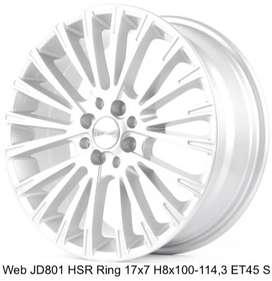 WEB JD801 HSR R17X7 H8X100-114,3 ET45 SILVER