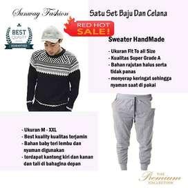 AM00239 Celana Setelan Satu set Sweater dan celana jogger