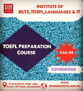 TOEFL IBT Preparation Course in Islamabad with 5 STAR INSTITUTE