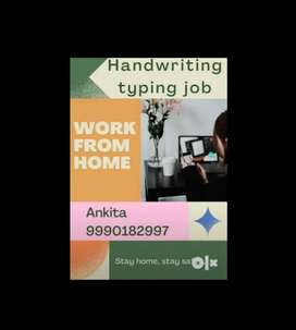 Work from home available for handwriting work .