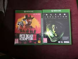 Two Xbox One Games Discs Dvd