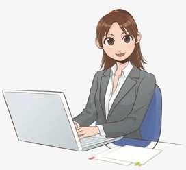 Female computer operator vacancies joining in Ltd companies