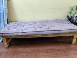 Mango wood bed with mattress