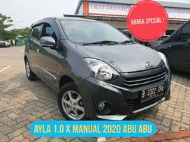 Ayla x mt manual 2020 abu km 700 cash 92jt