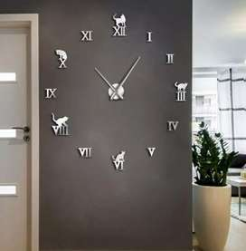 Jam dinding DIY Raksasa Diameter 80-130cm