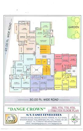 Big  3 BHK  Flat  For Sale in Nalasopara West