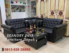 SEANDRY JAYA Furniture Depok/Sofa L putus minimalis ruang kecil/murah/
