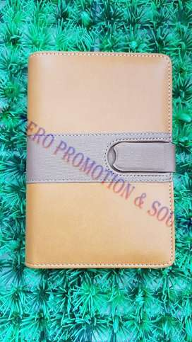 buku catatan agenda binder note cover kulit with kalkulator