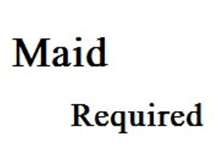 Maid for all household work 0