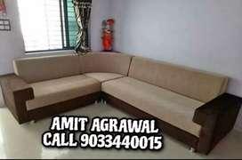 Square handle corner sofa set