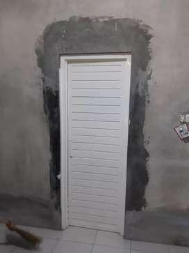 Pintu kamar mandi aluminium bahan tebal kokoh