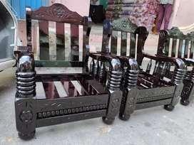 CUSTOM MADE (BRAND NEW) 3+1 +1 PURE Mysore teakwood sofa set with cush