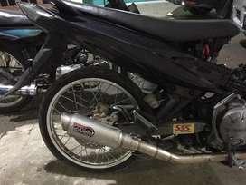 Dijual knalpot prolinerTR1R jupiter mx 135 & Karbu PE Keihin