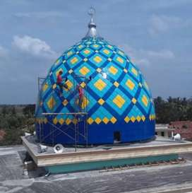 model kubah masjid terkini