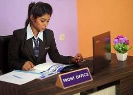 Front office receptionist female job in Zirakpur