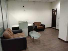 Cabin-4+work station-50+Big reception for rent