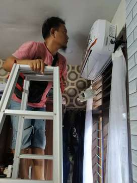 Cuci AC (air conditioner), Bongkar & pasang AC, instalasi listrik /ttk