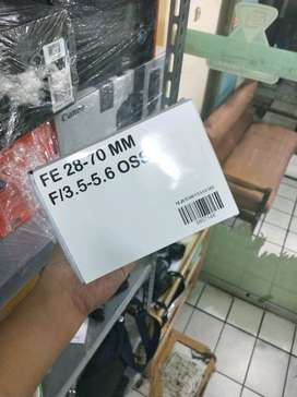 Lensa sony FE 28 70mm cash dan kredit