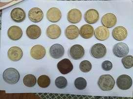 Old vintage coins
