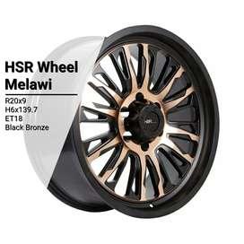 VELg mobil racing ring20 new HSRwheel PCD 6×139,7 untuk Fortuner dp10%