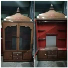 Made up of wood and ply wood and polished new latest मंदिर with doors