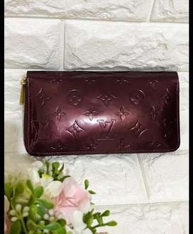 dompet asli LV Louis Vuitton paten skin SR0046 magenta red