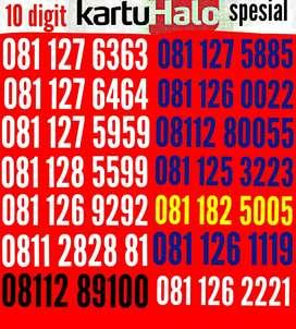 Kartu halo 10 digit =Rp 900.000 s/d =Rp 1.000.000 (TERMURAH)