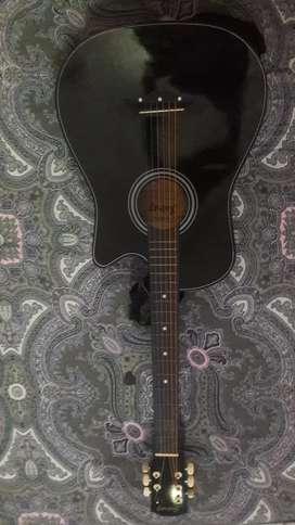 Black Guitar + String set + Guitar bag+ picks+ strap