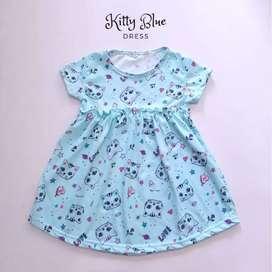 Dress kitty anak 2-3 tahunan